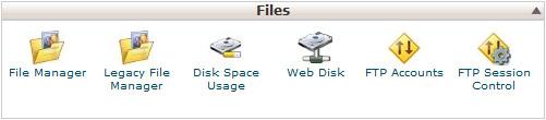 Datoteke - nadzorna plošča cPanel