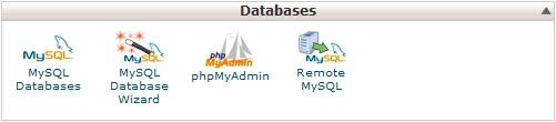 Podatkovne baze - nadzorna plošča cPanel